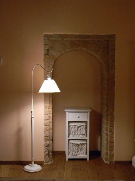Lampada piantana legno Italy
