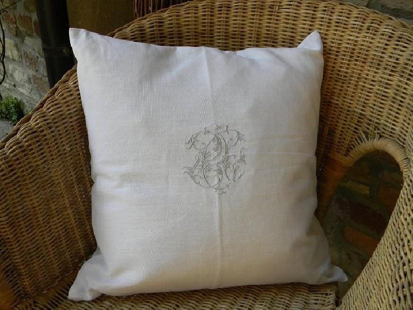 Cuscino in Lino 100% con stemma