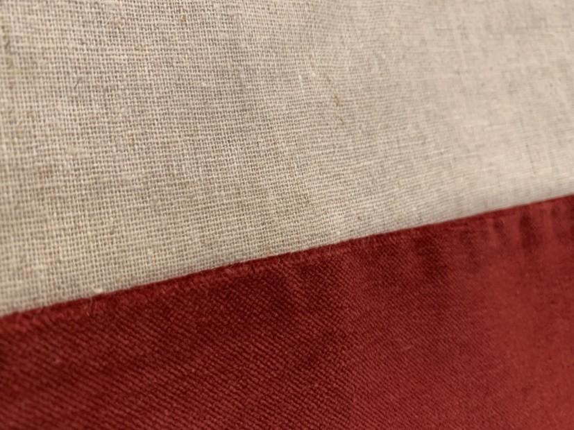 Tenda cotone bordo velluto